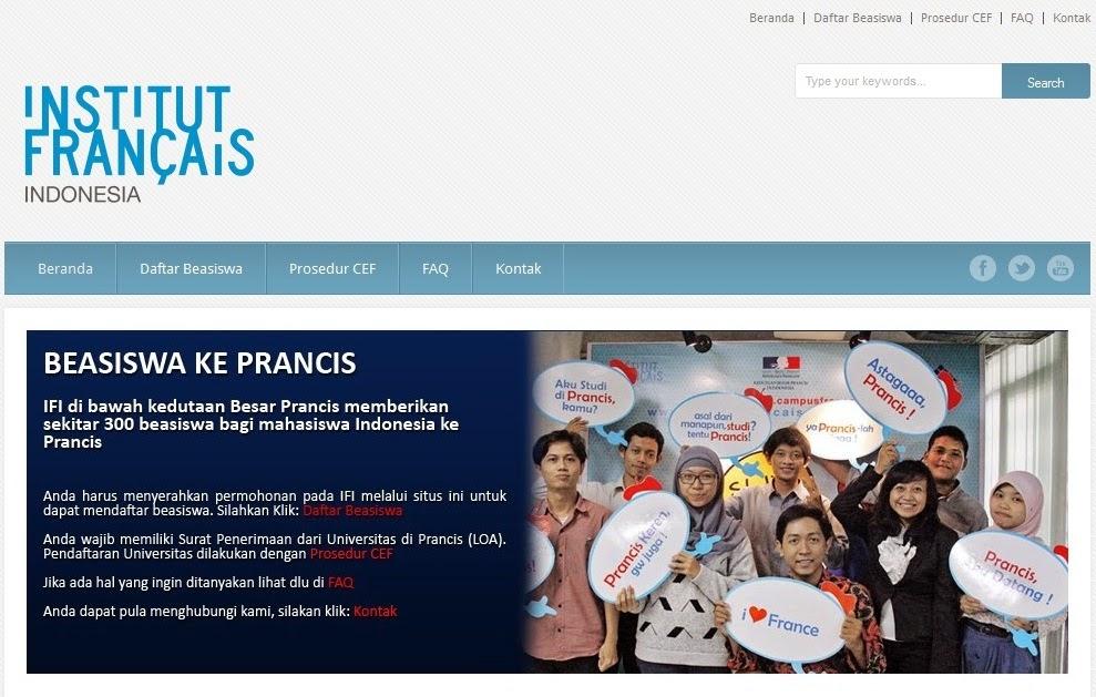 Informasi Beasiswa ke Prancis