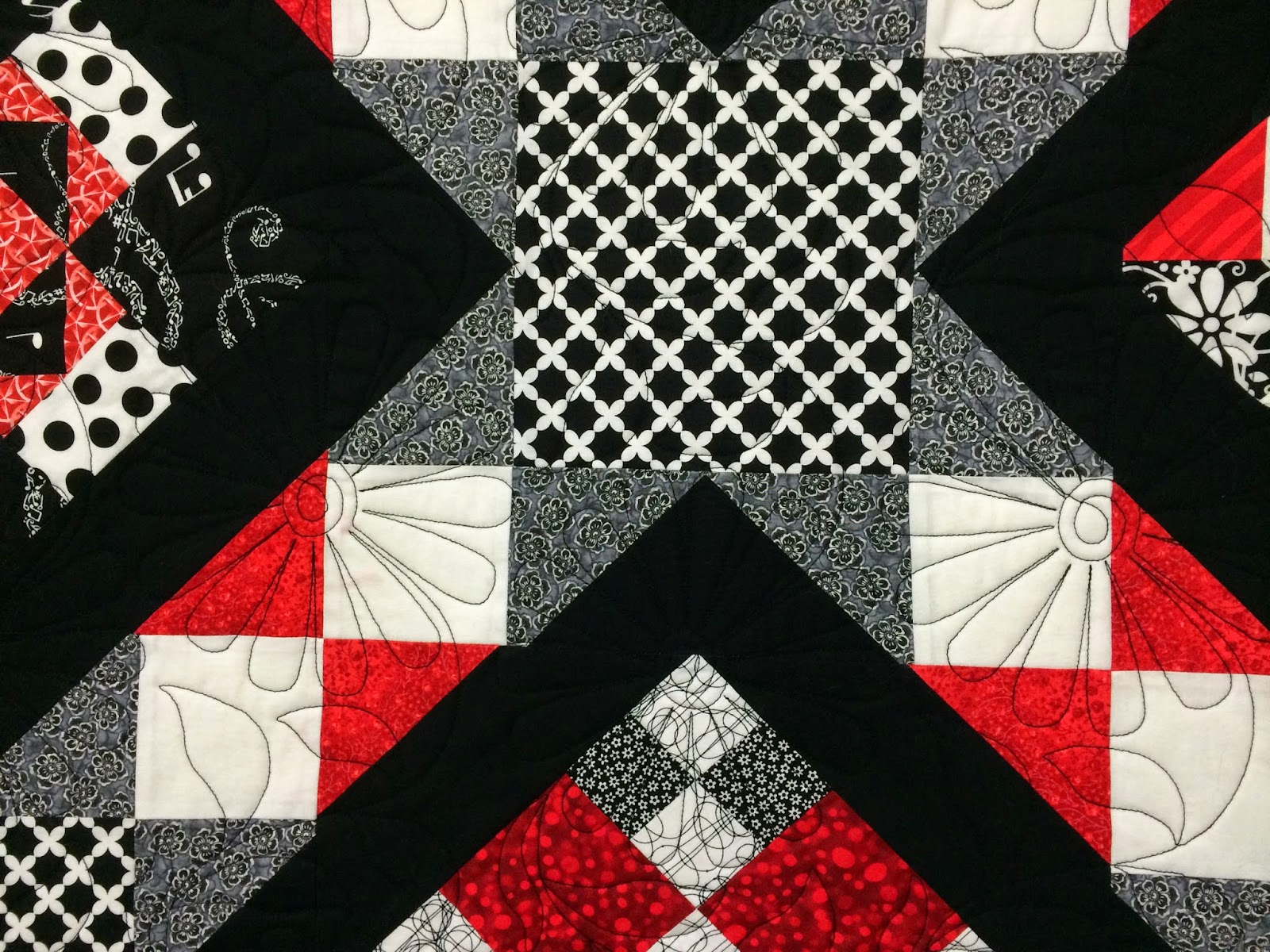 Lynne Capps Red, Black and White Quilt