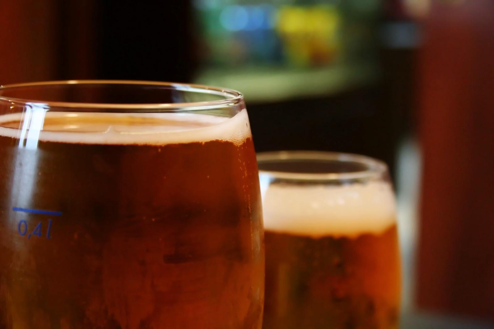 dues copes de cervesa
