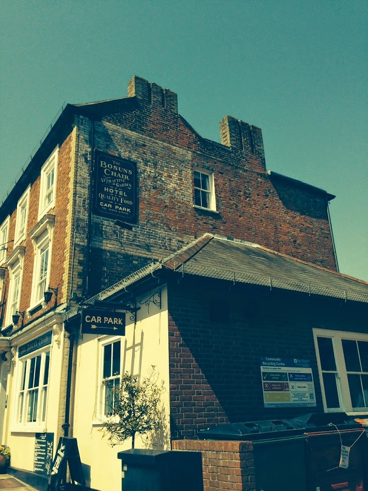 Ghost sign, Lymington, Hampshire