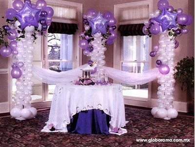 Decoglob ltda for Arreglos de salon con globos