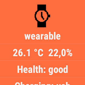 android wearable temperature