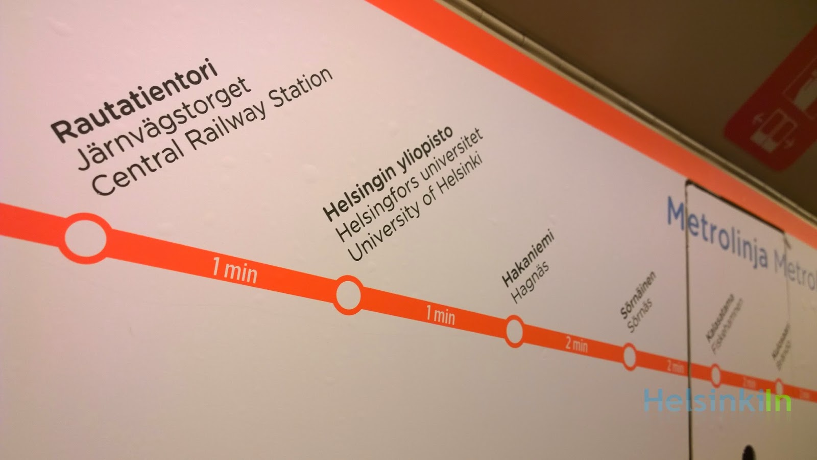 Helsinki's new metro station