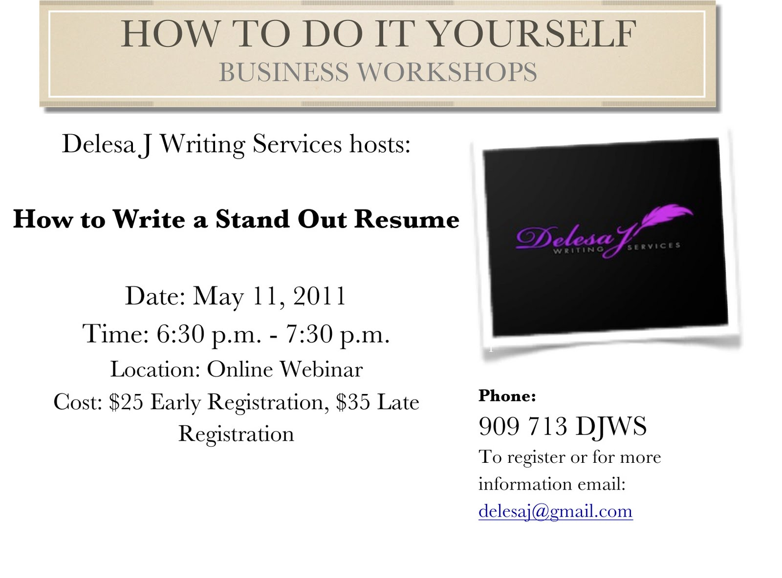 sonny essence how to do it yourself resume writing and