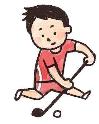 ホッケーの選手のイラスト(スポーツ)