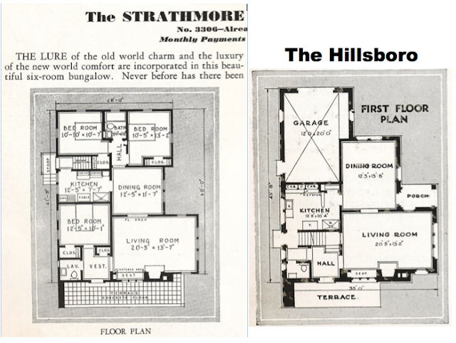 1932 floor plans for Sears Strathrmore vs Wll