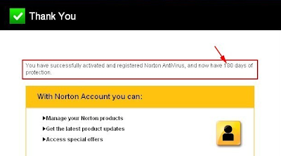 Norton Antivirus 2013 - Activation Complete