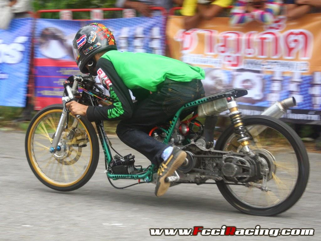 small sun custom: drag racing thailand style - stripped mio