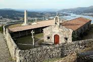 Ermita en el Monte Santa Tecla en Galicia, Pontevedra