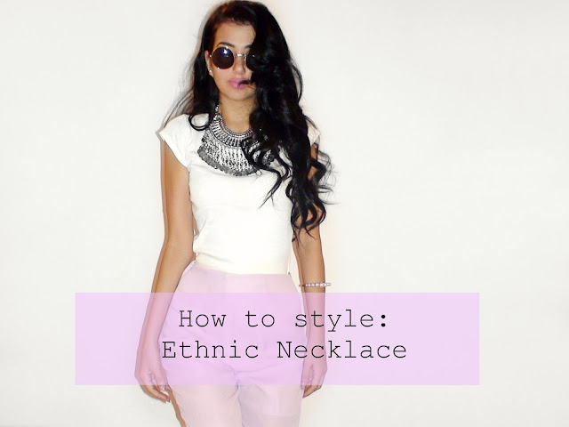 ethnic necklace outfits