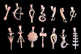Coleção 14 Ferramentas Orixás , 2cm
