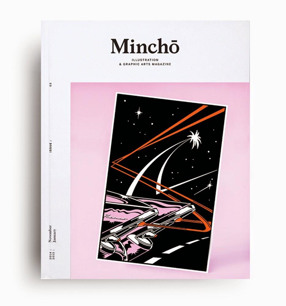 Revista Mincho nº 3, sale a la calle con un brillante deportivo rosa y palmeras en su portada.
