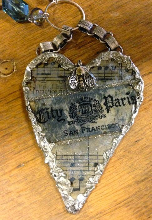 City of Paris Heart Necklace by The Pickled Hutch