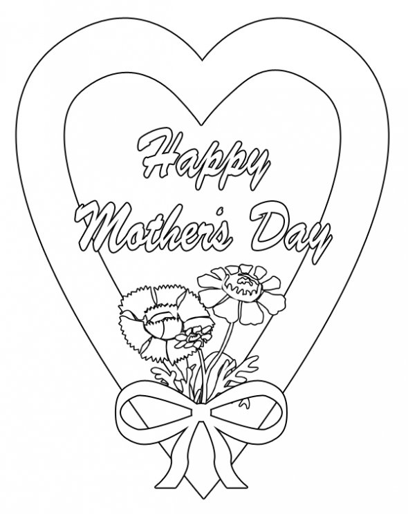 happy mothers day coloring pages for mothers day