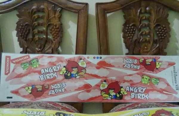 Stiker Variasi Beat Cw Motif Angry Birds