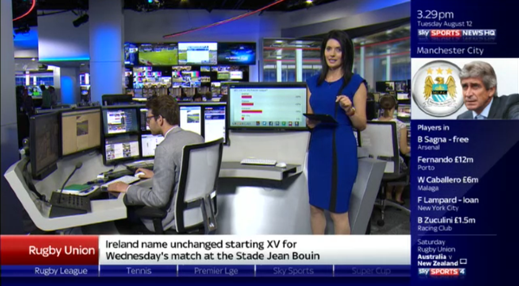Thomas' blah: Sky Sports News HQ, BBC Business and STV