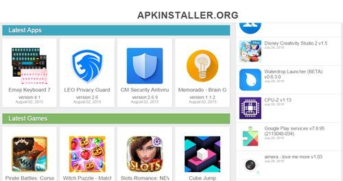Tampilan home Apkinstaller.org