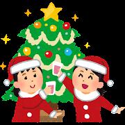 クリスマス女子会のイラスト