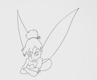 desenho Tinkerbell para pintar