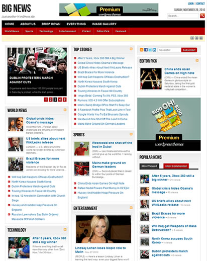 big news wordpress theme