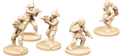 Preparados para la Wave 1 & 2 Saboteadores rebeldes Soldados rebeldes