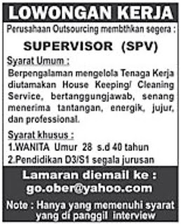 Lowongan Kerja Perusahaan Outsourcing September 2015