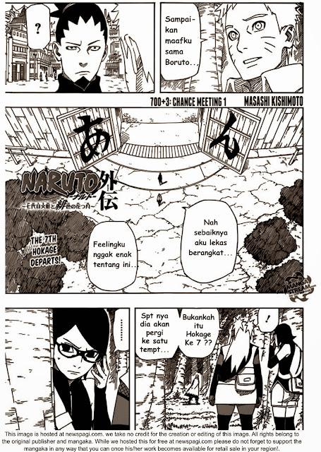 Manga Naruto chapter 703 atau episode 3 Hokage ketujuh Kesempatan bertemu 1