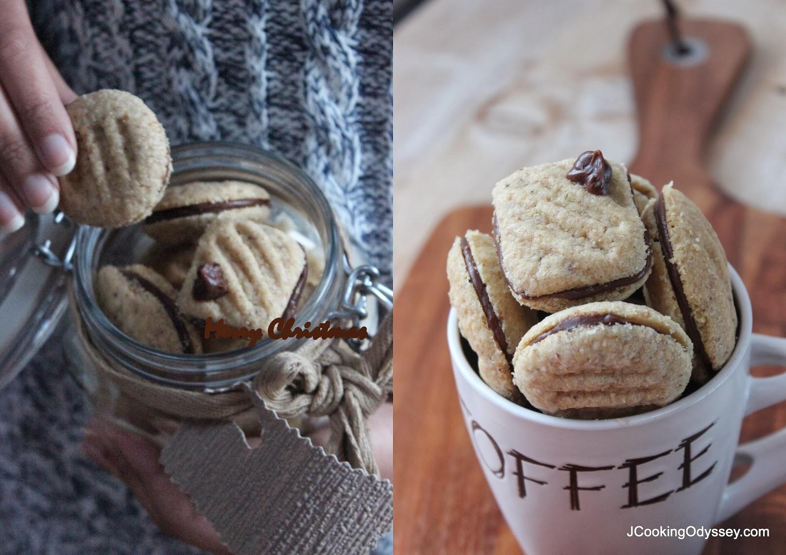 wheat germ mocha cream cookies ~ merry christmas !