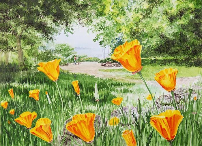 Акварельные рисунки цветов