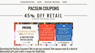 Be the first to learn about new coupons and deals for popular brands like PacSun Outlet with the Coupon Sherpa weekly newsletters. Get Gift Cards. Like PacSun Outlet coupons? Try these Take up to 70% off New Balance Footwear Final Discounts. Free Birthday Coupons. PacSun Outlet Offers. Click chart to view offers. Download.