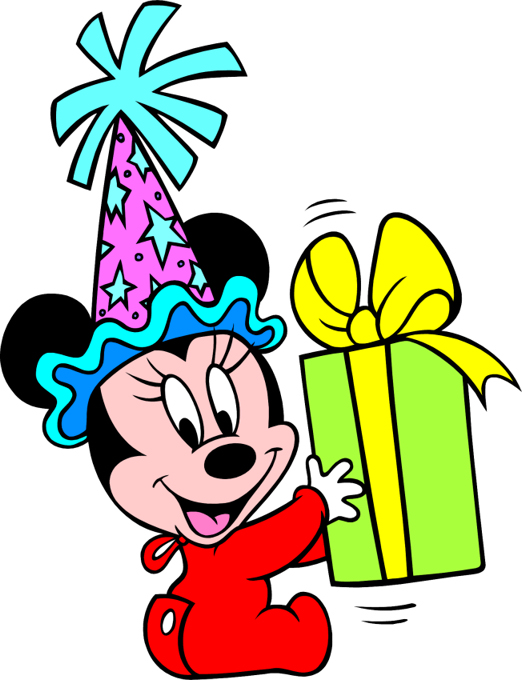 Baby Mickey Mouse Birthday Clip Art