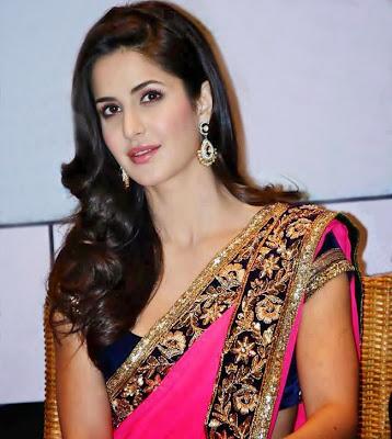 Katrina Kaif in sari looing sexy