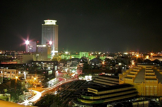 Phnom Penh Cambodia  city photos : Phnom Penh at night, and indeed a charming city!