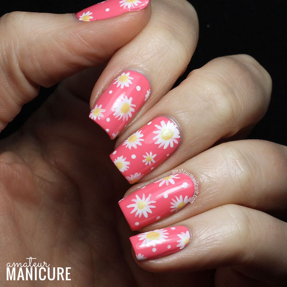 Amateur Manicure : A Nail Art Blog: Delightful Daisies Nail Art