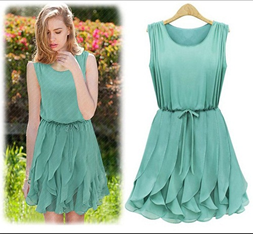 Casual Spring Knee-Length Dress