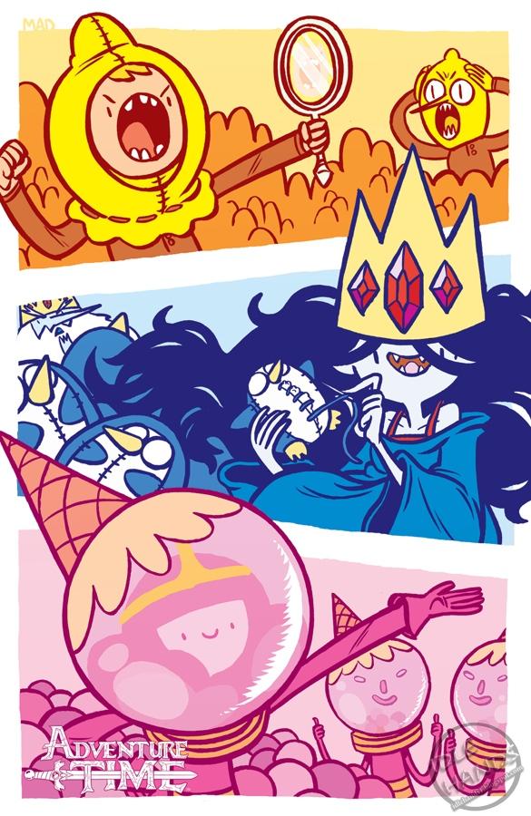 Adventure time comics fionna and cake