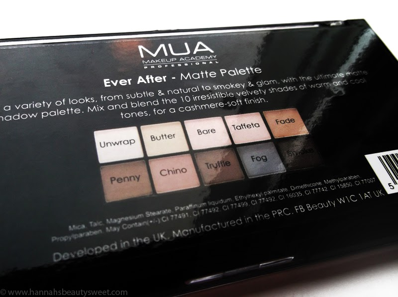 MUA, Ever After matte palette, eyehsadow, nudes,