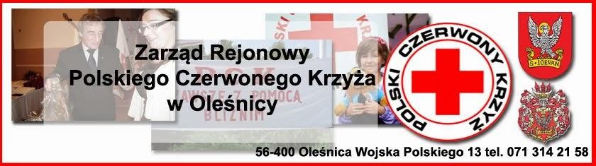 Strona Zarządu Rejonowego Polskiego Czerwonego Krzyża w Oleśnicy