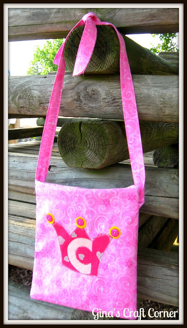 Appliqued Princess Crossover Bag