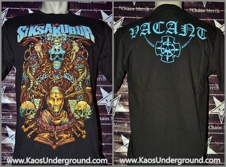 siksa kubur band metal jakarta heretic kaos underground 7chaos merch