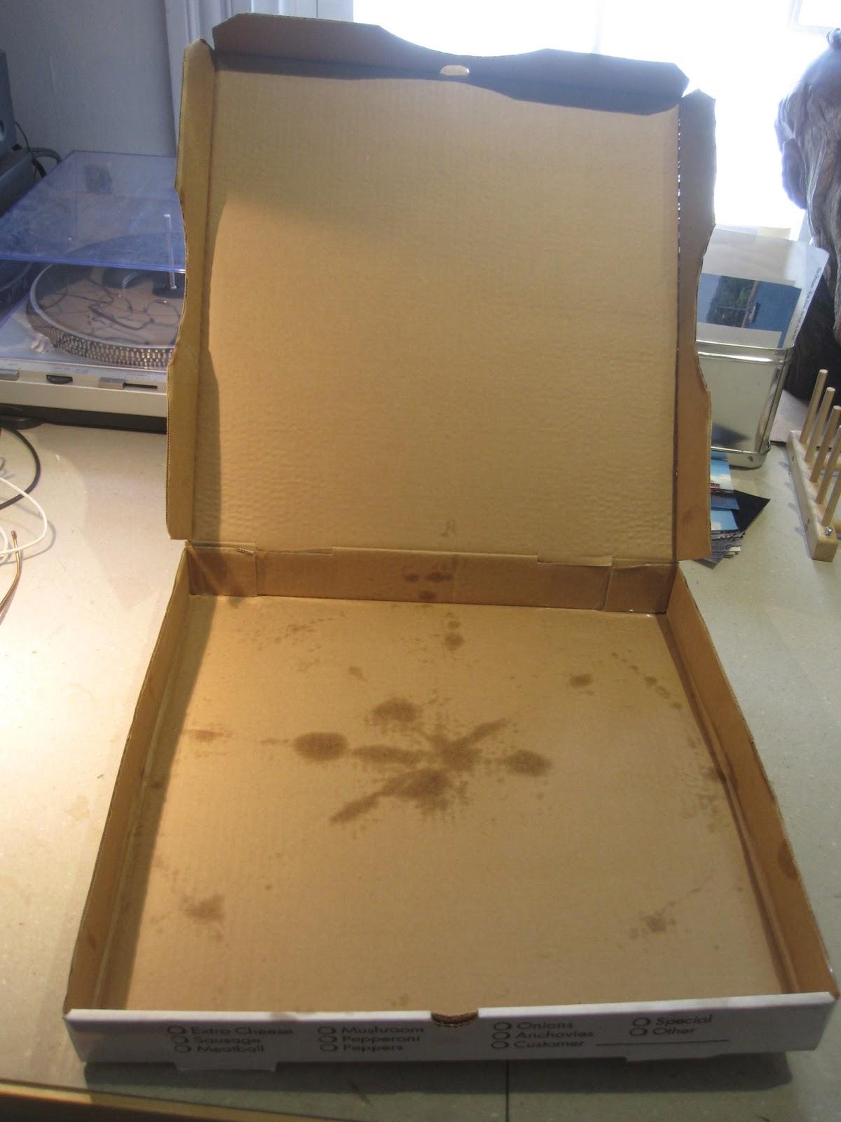 Cartoon Pizza Box Empty- #images