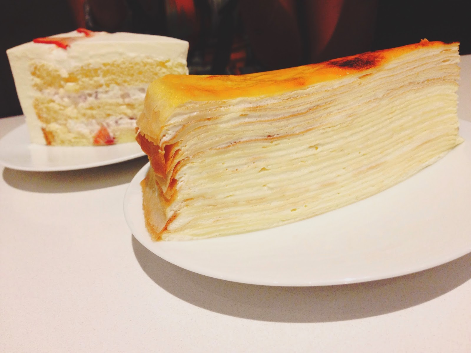 Lady M One Fullerton Singapore Signature Mille Crepe Cake