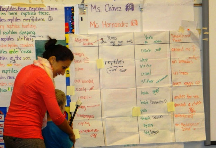 Teacher using Project GLAD strategies