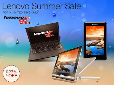 Lenovo Summer Sale at Lazada