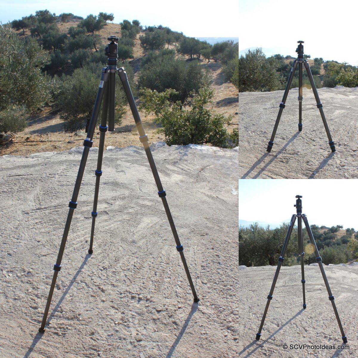 Nest NT-6294CT w/ Sunwayfoto DB-36DDH - long center column - 2 / 3 / 4 leg sections extended