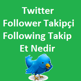 Twitter Follower Takipçi ve Following Takip Et Nedir