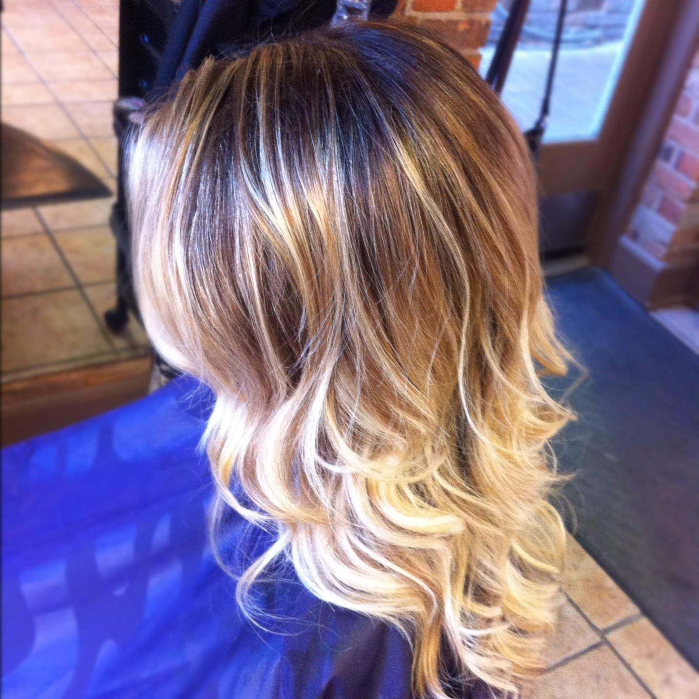 Hair Bleaching And Light Ash Brown Color