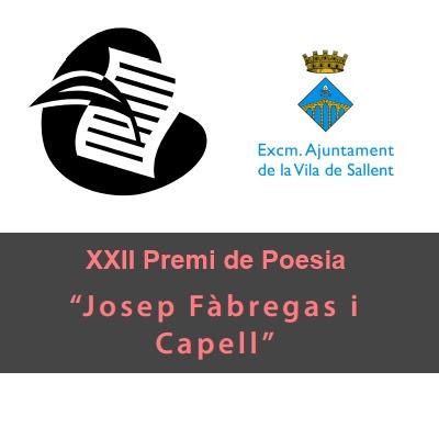 'XXII Premi de Poesia Josep Fàbregas i Capell'