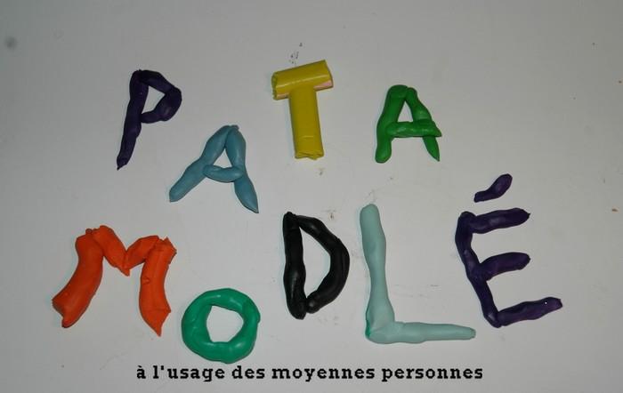 Pâte à modeler à l'usage des moyennes personnes.