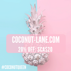 Coconut Lane 20% off code SCAS20 ▼